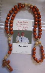 rosaries blessed by pope francis brown rosary blessed by pope benedict xvi made by the nuns