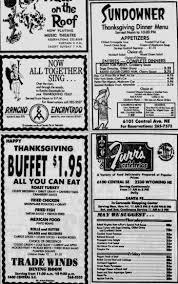 thanksgiving dinner ads nov 25 1971 vintage albuquerque