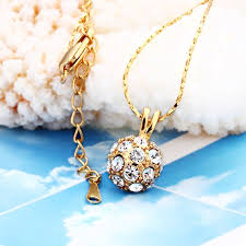 gold plated necklace pendants images Women trendy round gold plated rose gold plated platinum plated jpeg