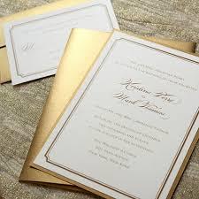 gold invitation custom invitation template design by derrick j
