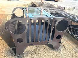 Grill For Fire Pit by Buy A Hand Crafted Custom Jeep Fire Pit And Grill Made To Order