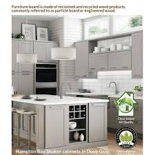 corner kitchen sink cabinet hton bay shaker partially assembled 36 x 34 5 x 24 in