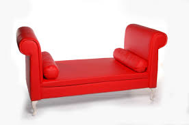 Roll Arm Chaise Furniture Red Leather Double Chaise Lounge Sofa With Double