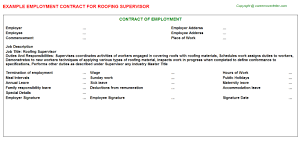 Roofing Resume Examples by Roofing Supervisor Job Title Docs
