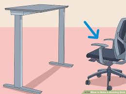 how to make a standing desk 12 steps with pictures wikihow