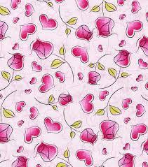 valentine print fabric hearts n roses pink joann