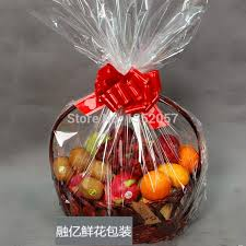 gift basket wrapping paper hot sales 60 70 transparent cellophane plastic packaging