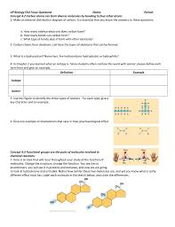 ap biology ch4 focus questions name period concept 4 2