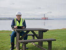 Sitting On The Desk Oil Gas Electrical Engineer Stock Images Download 219 Photos