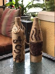 decoupage wine bottle decor decoupage craft glass bottles art