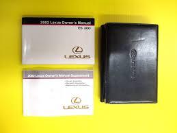 lexus hs 250h owners manual es 300 es300 sedan 02 2002 lexus owners owner u0027s manual set with