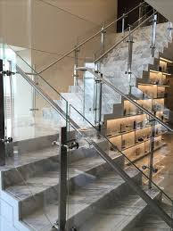 Handrails And Banisters For Stairs Best 25 Glass Handrail Ideas On Pinterest Glass Railing Glass