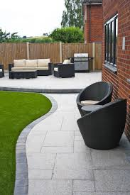 Garden And Patio Designs Stunning Modern Patio Birch Granite Paving Garden Wicker Furniture