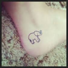 elephant train tattoo design on ankle