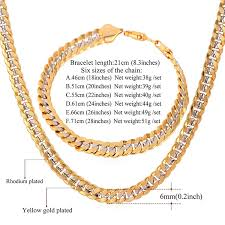 rose tone necklace images Men two tone gold chain platinum 18k gold plated cuban curb jpg