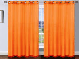 Sheer Curtains Orange Sheer Kitchen Window Curtains Semi Sheer Grommet Curtain Panels