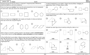 Similar And Congruent Figures Worksheet Excel Math 04 01 2012 05 01 2012