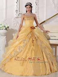 gold quince dresses gold quinceanera dress strapless organza embroidery with beading