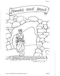 david jonathan coloring pages david spares saul coloring page