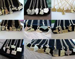 state shaped gifts state necklace etsy