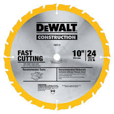 Dewalt Construction 10 In 24 Teeth Thin Kerf Table Saw Blade Dw3112
