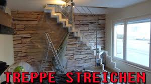 treppe streichen treppe streichen zeitraffer