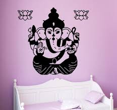 Lotus Flower Wall Decal Om by Three Elephant Wall Decals India Mandala Buddha Om Vinyl Bedroom