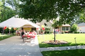 Backyard Graduation Party by High Graduation Party Garage Two Huge Carport Tents That