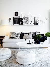 White Livingroom Black And White Living Room With Teal Interior Design