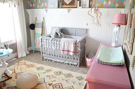 Pink Rug For Nursery Boho Nursery Tour Remington Avenue