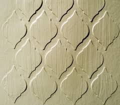 raised plaster stencil tile wallpaper paint stencil from