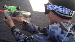 backyard airsoft gun war 1 youtube