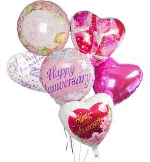 mylar balloon bouquet anniversary balloon bouquet 6 mylar balloons send