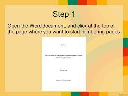 insert numbering specific
