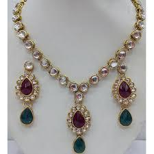 jewelry designs necklace sets images Designer jewellery sets kundan polki set exporter wholesaler png