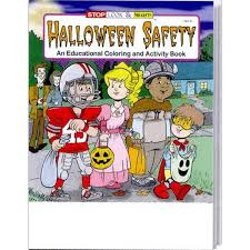 halloween safety coloring and activity book halloween pinterest
