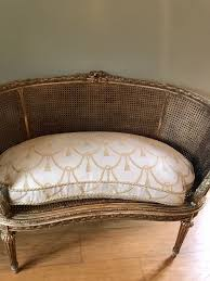 louis xvi revival giltwood kidney shaped sofa