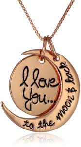 I Love You To The Moon And Back Personalized Necklace Buy Sterling Silver U0026quot I Love You To The Moon And Back U0026quot