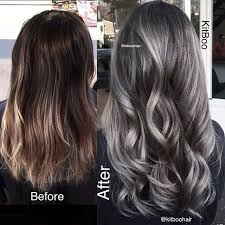 silver brown hair image result for dark brown hair with silver highlights hair