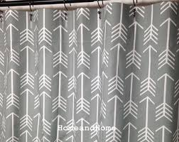 Gray Shower Curtains Fabric Grey Shower Curtain Etsy