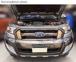 ranger ford 2018 led daytime running light drl drive lamps day ford ranger t6 mk 2