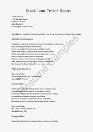 Trade Resume Examples Stock Resume Sample