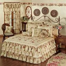 Antique Rose Comforter Set Victorian Bedding Touch Of Class