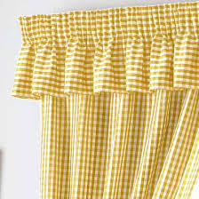 Kitchen Curtains Uk by Gingham Value Curtains Yellow Free Uk Delivery Terrys Fabrics