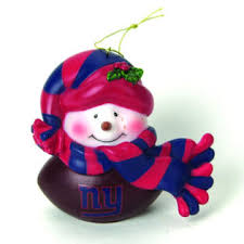 topperscot new york giants musical snowman ornament