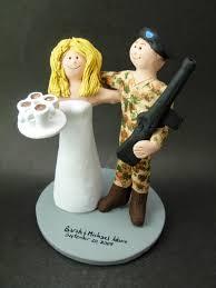 soldier in camouflage wedding cake topper m16 marine wedding