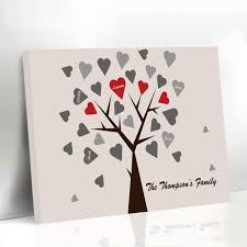 personalized wedding guestbook aliexpress buy personalized wedding guestbook heart family