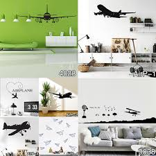 airplane home decor dsu vinyl removable commercial airliner wall decal home decor