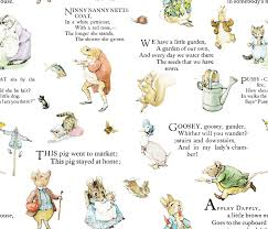 faux suede fabric nursery rhymes craft fabric beatrix potter