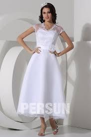 robe de mari e simple dentelle robe de mariée en dentelle en organza à a ligne décolletée en